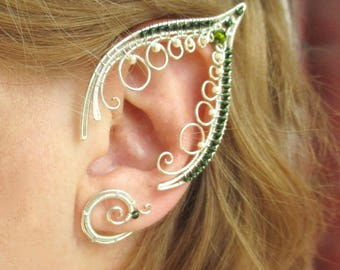 Pair of elf ear cuffs Forest Nymph