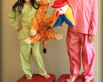 Kids Plain Pajama / Button Up / Cotton / Easter