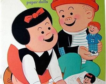 1974 Whitman Nancy & Sluggo Paper Doll Book