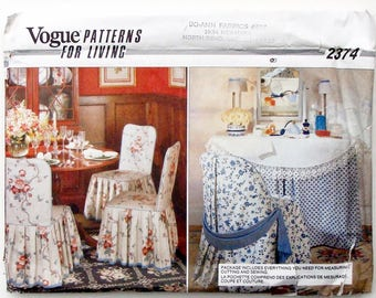 Vintage 80s Vogue Chair Covers Sewing Pattern 2374
