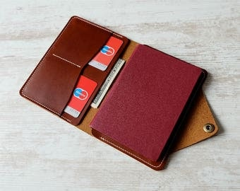 Leather passport cover, leather passport holder, passport holder, passport cover, passport wallet, passport holder handmade