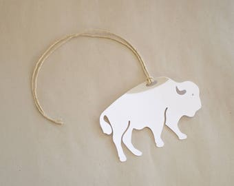 Buffalo Gift Tags - Set of 8 White Buffalo Hang Tags