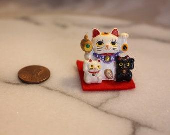 Maneki Neko Miniature Doll House Mini Lucky Cat