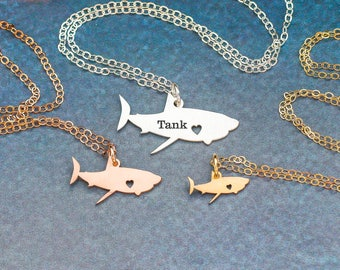 Shark Necklace Sea Pendant • Ocean Charm Shark Jewelry Beach Necklace Vacation Jewelry Sea Gift Travel Charm Unique Gift for Her