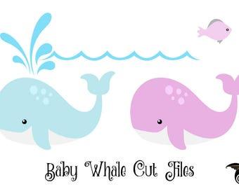 Baby Whale SVG, whale svg, whale svg, whale clipart, Cricut, Cameo, Cut file, Clipart, Svg, DXF, Png, Pdf, Eps