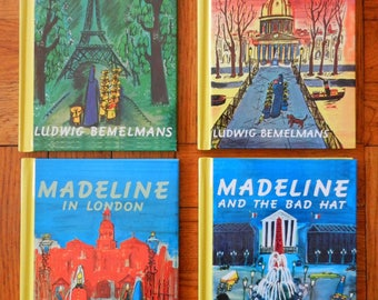 Retro 90's Madeline Hardcover Books Set Of Four by Ludwig Bemelmans 1992