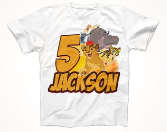Lion Guard Birthday Shirt, Lions Guard Tshirt, Custom Birthday shirt, Party Gaurd Shirt