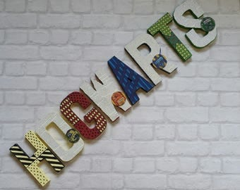 Hogwarts Letters. Personalised Hand Painted Papier Mache Letters. Hogwarts Harry Potter Letter. MADE TO ORDER