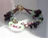 Bracelet with Amethyst be...