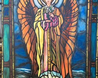 FLOWER Angel original painting