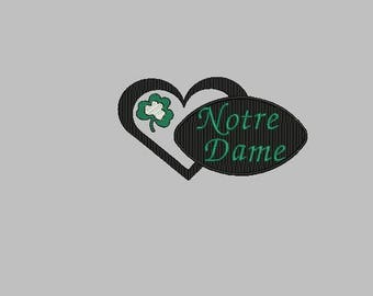 Notre Dame football machine embroidery design
