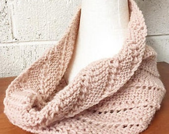 PDF Garter & Lace Neckwarmer knitting pattern for toddlers through to adults; 8ply / DK