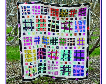 Hashabout - An Urban Folk Quilt Pattern from Blue Nickel Studios - PDF Download