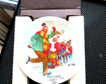 Vintage Christmas Plate and Certificate of Authenticity The Csatari Grandparent Plate 1981