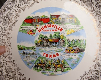 Vintage Wall Plate of Huntsville Texas - The Lone Star State - Souvenir