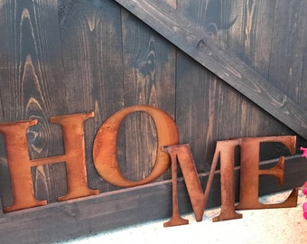 """12"""" Metal Letters & Numbers, Large Monogram, Rustic Number, Rusted Metal, Farmhouse Decor, Fixer Upper Style, Shabby Chic, Rustic Home Decor"""