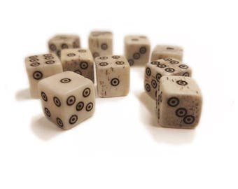 Buffalo Bone Dice [3 Varieties] (Viking/Medieval Rolling Bones)