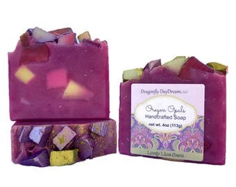 OREGON OPALS | Handcrafted Soap | LILAC Scented Soap | Handmade Soap | Cold Process | Artisan Soap | Soap for Women | Floral Scented Soap