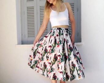 Printed full skirt,midi full skirt,summer full skirt,cute midi skirt,cute print skirt,printed skirt,fashion skirt,womens fashion,skirt,midi