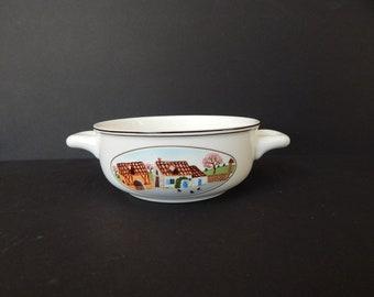 Villeroy & Boch Design Naif Flat Cream Soup Bowl Two Handles