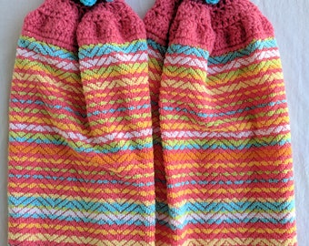 Crochet Kitchen Towels, Set of 2