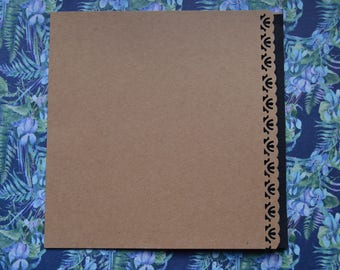 Set of 8 cards and envelopes paper 15x15cm