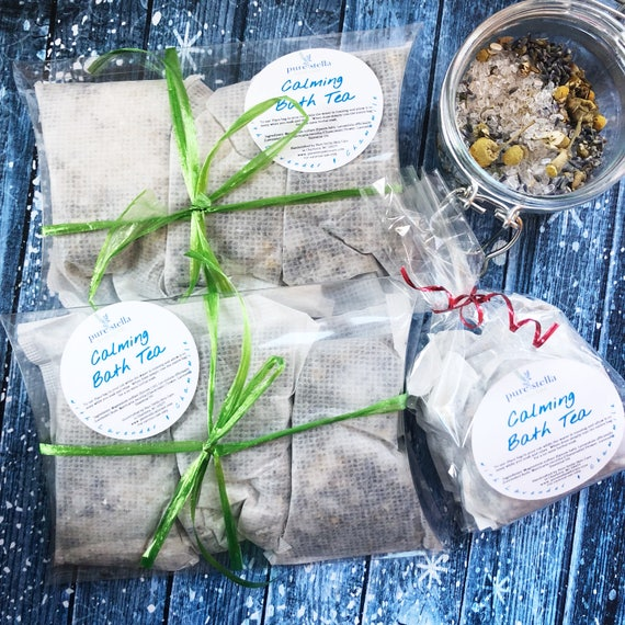 Calming Bath Tea with Lavender, Chamomile, and Epsom Salt