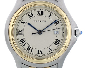 Large Cartier Panthere Cougar 118000R Two Tone