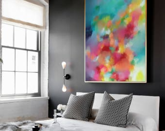 Abstract painting print, ABSTRACT large, Pink painting, abstract art, original abstract large painting, contemporary abstract GICLEE PRINT