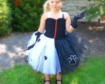 Cruella Tutu Dress, Cruella Costume, Cruella De Vil, Cruella Deville, Villian Costume, Villian Tutu Dress