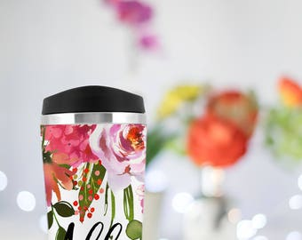 Custom travel mug, Personalized bridesmaid gift, Fall Wedding, thank you gift, teacher gift, coffee mug, Bridesmaid proposal, Back to School