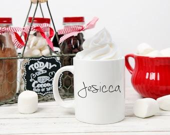 Hot Cocoa Mug, Cocoa Mug, Cocoa Lover, Hot Chocolate, Mug, Cup, Gift Present, Chocolate Lover, Christmas Gift, Birthday Gift, Winter Mug