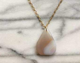 Agate Pendant Necklace - Free Shipping!