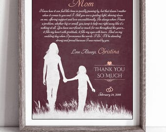 Mother Of The Bride Poem - Wedding Gifts For Parents - Mother Of The Bride Gift - Parent Wedding Gift - Mother Wedding Gift