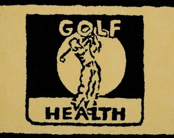 Golf Health Plush Cotton Rug 19 x 29 New Old Stock