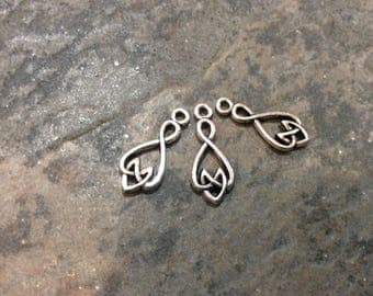 Celtic knot pendant charms package of 3 beautiful quality pewter charms Irish charms