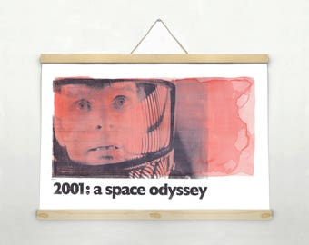 "2001: A SPACE ODYSSEY Stanley Kubrick, Original Art, Minimalist Movie Poster Print 24 x 36"""