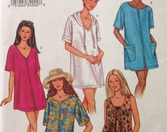 Butterick 3474 - Fas and Easy Swim Cover with Hood Option - Size XS S M