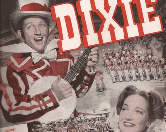 If You Please, Music from the Paramount Picture Dixie with Bing Crosby and Dorothy Lamour, Vintage Sheet Music, Words and Music, Piano