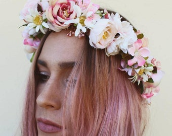 Daisy and rose flowercrown