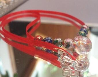St. Valentine's Cloisonné Necklace