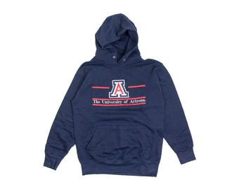 UNIVERSITY OF ARIZONA Hoodie // ua sweatshirt / uofa pullover / college hooded sweatshirt / tucson arizona / 90s vintage / adult / small