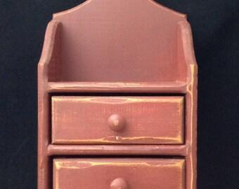 Primitive Wall Cabinet Tabletop Cabinet Drawer Cabinet Primitive Brown Shelf