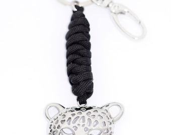 Jaguar Cat Head Key Ring
