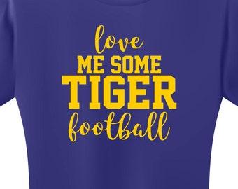 Tiger SVG Football Shirt SVG Football SVG Football Mom svg Screen Print Design Iron On svg Instant Download School Spirit Team Spirit