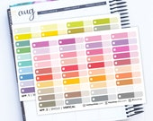 Check Boxes - Single - Appointment Boxes, Sticker for Planners Erin Condren sticker