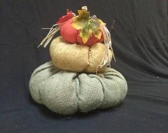 Stacked Pumpkins-Hand Made Pumpkins
