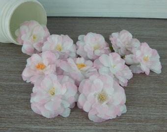 Flower head-flower heads light pink color with white shades-high quality artificial flower for floral arrangements