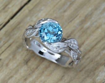 Gold London Blue Topaz Ring, Gemstone Ring, Statement Ring, Organic, Engagement Ring, Unique, Natural Blue Topaz, Birthstone ring, 18k 14k