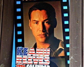 very rare keanu reeves 1996 oliver books calendar film memorabilia full page photos collectable canadian actor